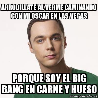 Memes De Las Vegas - meme sheldon cooper arrodillate al verme caminando con mi oscar en las vegas porque soy el big
