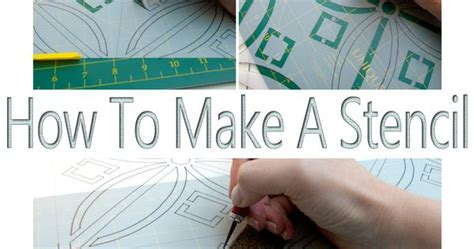 Salvaged Inspirations  How To Make A Stencil No Costly Gadgets Required!  Creative Teaching