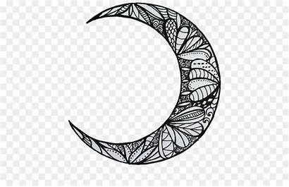 Moon Aesthetic Drawing Henna Phase Lunar Luna