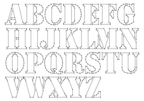 string art pattern sheets alphabet stencil letter height