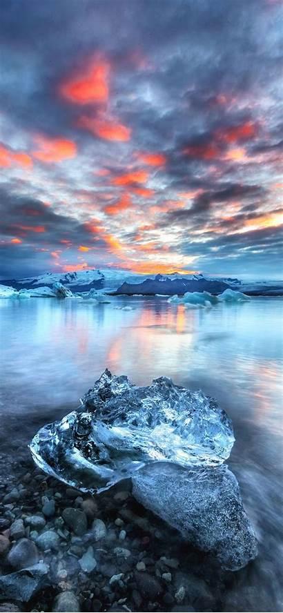 Ice Wallpapers Water Iphone Overlays Sunset Block