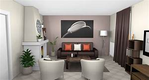 best salon gris taupe et lin images amazing house design With idee couleur pour salon