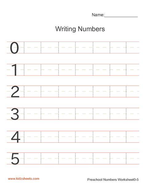 handwriting worksheets numbers writing