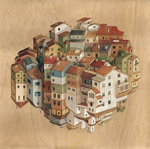 The inverted architecture and gravity defying worlds of for Inverted architecture cinta vidal