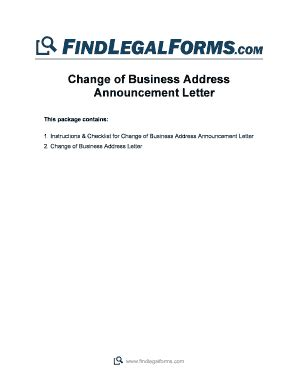 change  email address announcement sample edit print