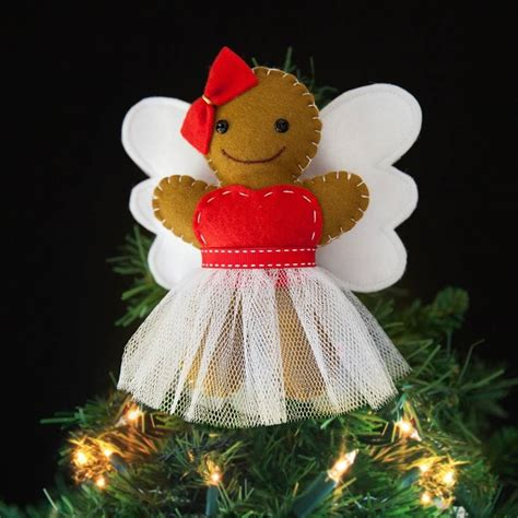 gingerbread fairy christmas tree topper by miss shelly