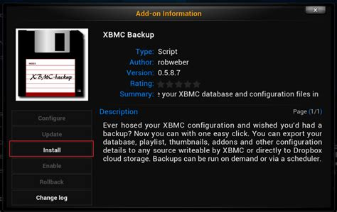 Backup And Restore Xbmc (kodi) With Xbmc Backup Add-on