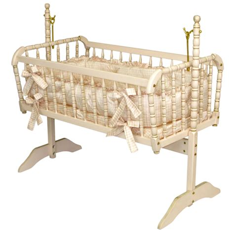 pink nursery with pink spindle antique spindle cradle in versailles finish and luxury
