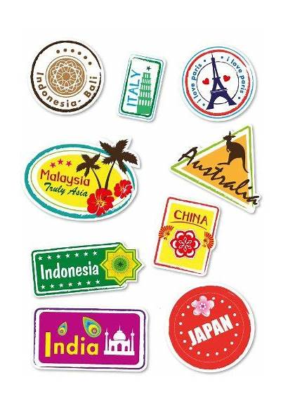 Stickers Suitcase Travel Luggage Labels Decal Locations