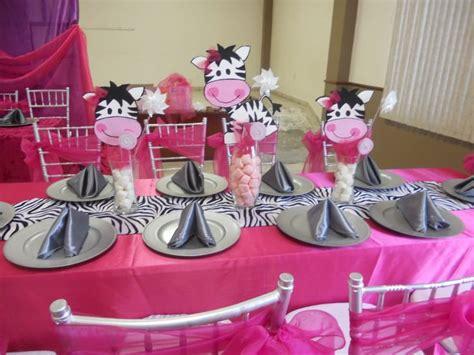 zebra print centerpieces  baby shower baby shower de