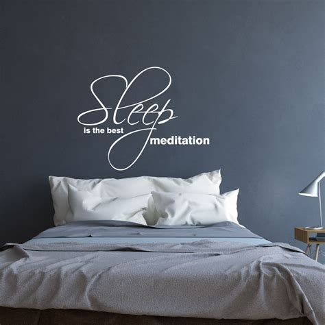 sticker citation chambre stickers muraux citations sticker le sommeil est la