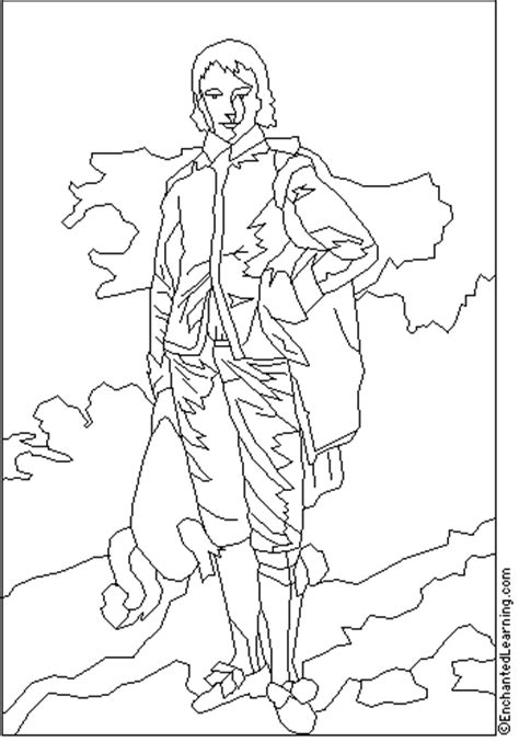 thomas gainsborough coloring page enchantedlearningcom
