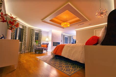 master bedroom cove ceiling design contemporary