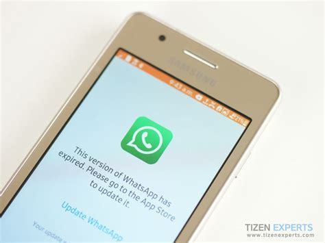 whatsapp messenger has expired problem affecting tizen