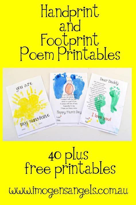 handprint  footprint poem printables homeschool giveaways