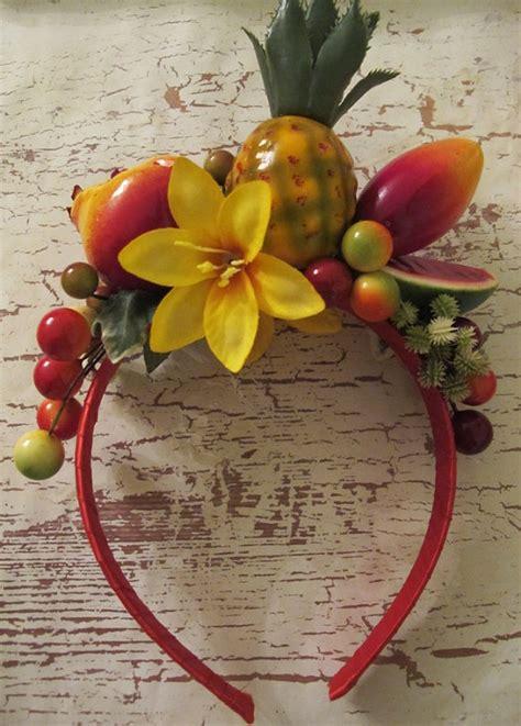 tropical fruits headband carmen miranda style