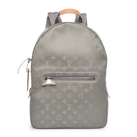 louis vuitton monogram titanium backpack pm  fashionphile