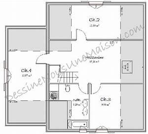 plans de maisons individuelles avec etage ou combles With plan maison etage 100m2 5 plan maison mikit 4 chambres