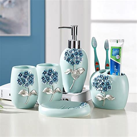 resin bathroom accessories set  piece bath ensemble