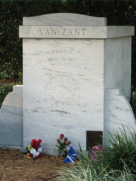 ronnie van zants tomb close  orange park memorial cemet