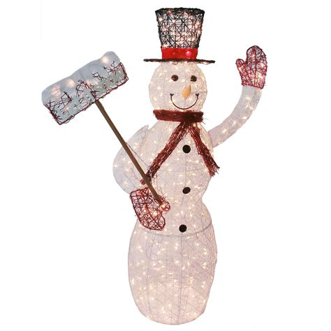outdoor lighted snowman decorations lighted vine snowman outdoor christmas decoration 5 ft