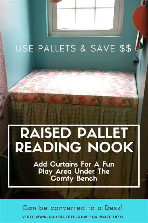 charming pallet reading nook converts  desk  pallets