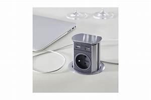 Prise Dans Plan De Travail : bloc prises courant usb escamotable encastr accessoires ~ Premium-room.com Idées de Décoration