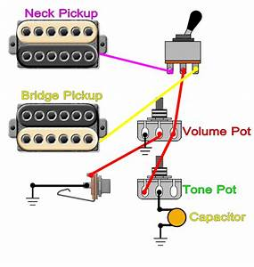 Guitar Wiring Diagrams 2 Pickup 1 Volume Tone