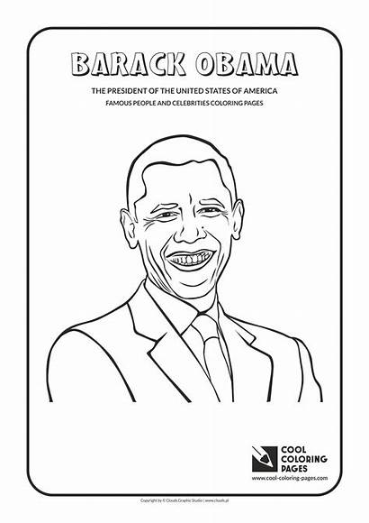 Obama Coloring Barack Pages Cool Famous Celebrities