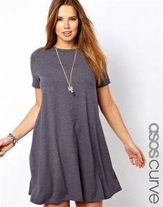 asos curve swing dress with short sleeves fashion With robe trapeze cintrée