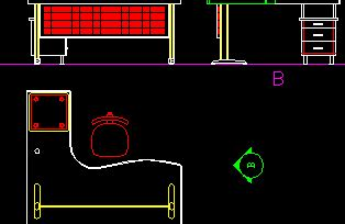 shaped office desk  dwg block  autocad designs cad