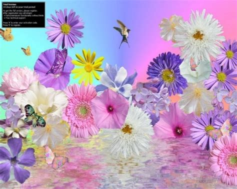 Animated Flower Wallpaper Desktop - animated flowers 3d and cg abstract background