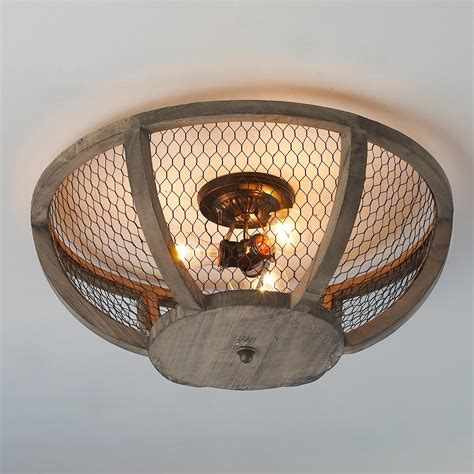 ceiling lights for low ceilings chicken wire basket ceiling light small wire baskets