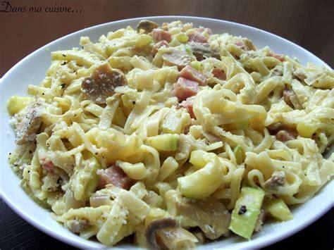 pates aux courgettes et jambon p 226 tes aux courgettes chignons et d 233 s de jambon au curry recette