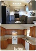 Painted Kitchen Cabinets Before And After Grey by Kitchen1 Cheap Kitchen Remodeling Help Information
