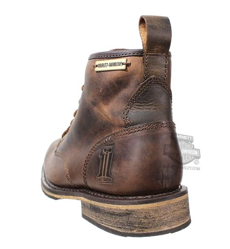 brown leather harley boots 93192 harley davidson mens darrol brown leather low cut