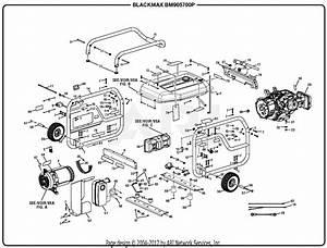 Homelite Bm905700p 5700 Watt Generator Parts Diagram For General Assembly
