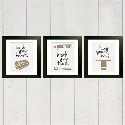 Bathroom Etsy bathroom print set of 3 8x10 by deliveredbydanielle on