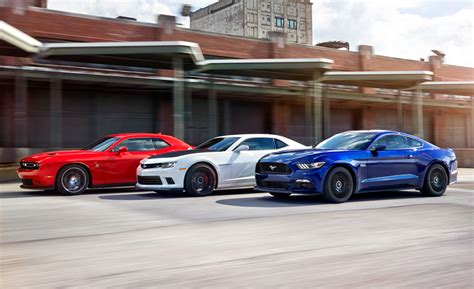 Car And Driver Mustang Vs Camaro by 2015 Ford Mustang Gt Vs Chevrolet Camaro Ss 1le Dodge