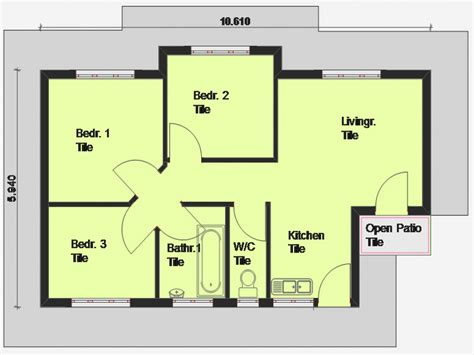 cheap  bedroom house plan  bedroom house plan south