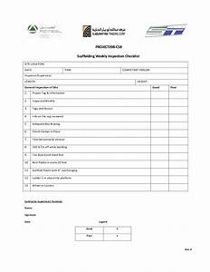 scaffolding inspection checklist template word doc With scaffold inspection checklist free template