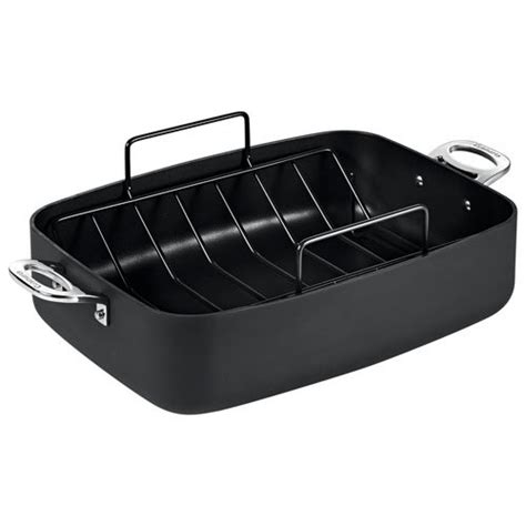 roasting pan with rack cuisinart chef ia roasting pan with rack 39 x 28cm