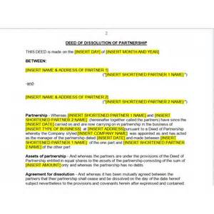 cover letter no recipient partnership dissolution agreement law4us