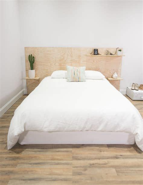 plywood headboard bed diy ideas poppytalk