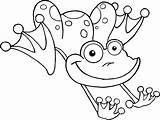 Coloring Pages Frog Frogs Printable sketch template