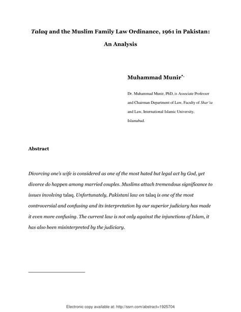 talaq   muslim family law ordinance