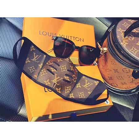 louis vuitton monogram brown leather face mask  genuine lv leather