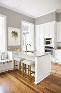 kitchen white kitchen grey walls for great cabinets with With kitchen colors with white cabinets with haute couture wall art