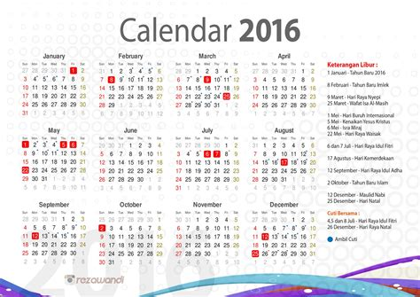 Download Kalender 2019 Cdr Psd