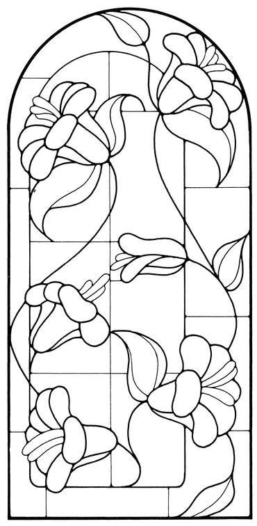 Floral Stained Glass Pattern Book the 1228 best stained glass flowers images on